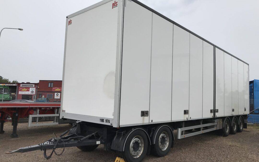 5 Axlad HRD / PLS släpvagn transportskåp
