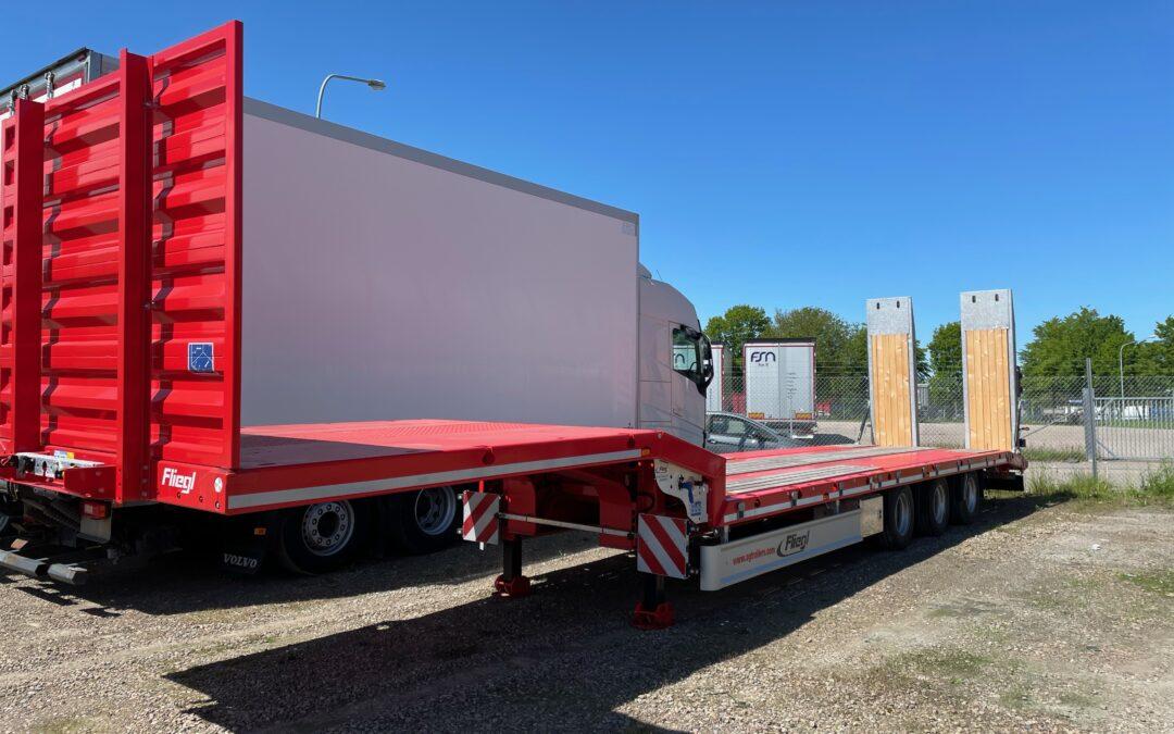 Fliegl 3 axlad Jumbo Maskin trailer