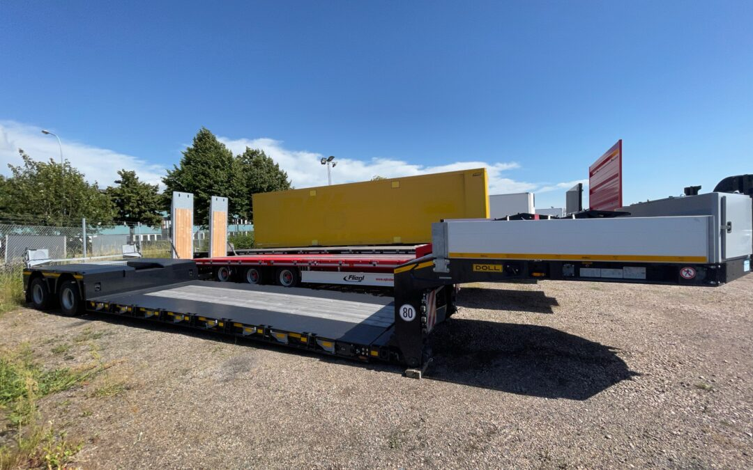 Fabriksny DOLL T2H 2axlig maskintrailer